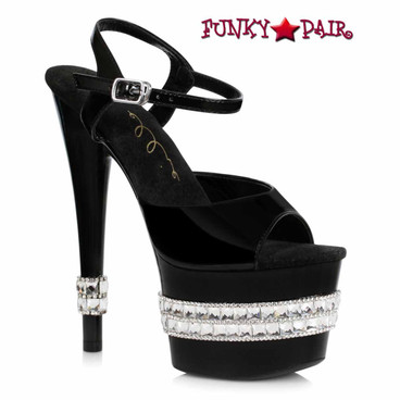 Ellie Shoes | 710-JULIET, Rhinestones Platform Sandal