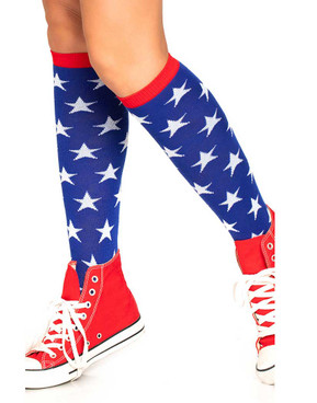 LA-5618, Star Knee Highs Shock by Leg Avenue