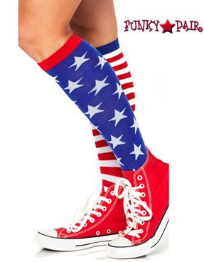 Leg Avenue | LA-5617, Star and Stripes Knee Highs