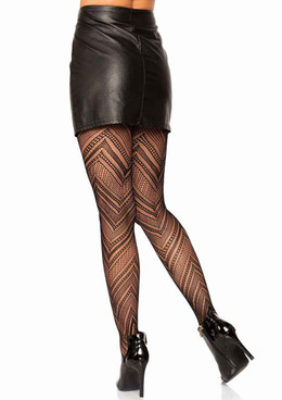Leg Avenue, LA-9289, Chevron Net Tights back view