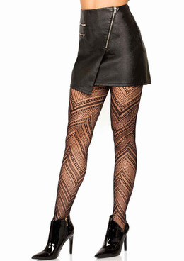 LA-9289, Chevron Net Tights by Leg Avenue