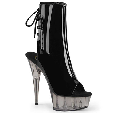 Delight-1018T, Tinted Platform Ankle Boots by Pleaser