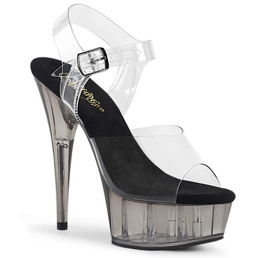 Pleaser | Delight-608T, Tinted Platform Sandal