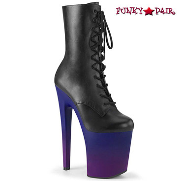 Pleaser | Xtreme-1020BP, Ankle Boots with Ombre Platform
