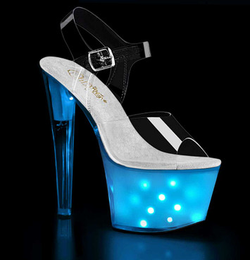 Illuminator-708, Lite-up Platform Sandal with Different Patterns by Pleaser