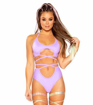 JV-FF392, Lavender Wrap Short by J. Valentine