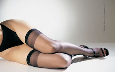 1908, Sheer Thigh Highs with Rhinestone Top