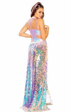 JV-FF361, Sequin Harness Skirt color Cosmic