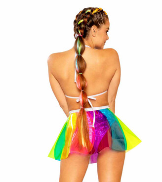 J. Valentine JV-FF379, Pinwheel Vinyl Skirt back view