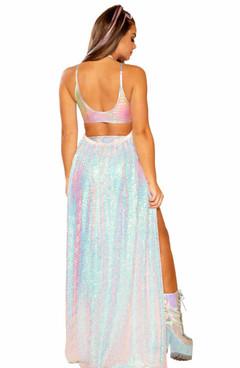 JV-FF364, Sequin Harness Skirt by J. Valentine