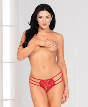 STM-11141, Red Strappy Lace Panty by Seven Til Midnight