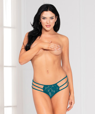 STM-11141, Teal Strappy Lace Panty by Seven Til Midnight