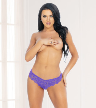 STM-11133, Purple Lace G-String by Seven Til Midnight