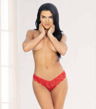 STM-11133, Red Lace G-String by Seven Til Midnight