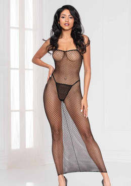 STM-20477, Fishnet Long Dress by Seven Til Midnight