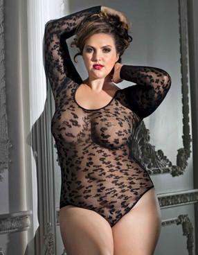 Plus Size Leopard Bodysuit AB6082X