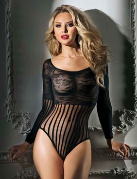 Lace Long Sleeve Bodysuit AB6110 RaveWear Lingerie