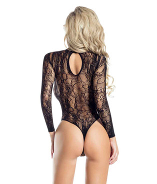 AB6115 Net and Lace Bodysuit back view by RaveWear Lingerie