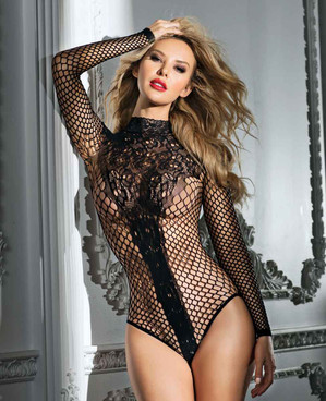 Lace and Net Long Sleeves by RaveWear Lingerie AB6109