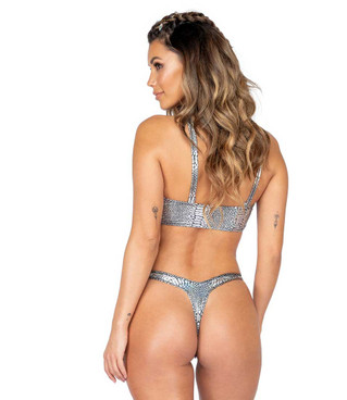 Roma R-3855, SNAKESKIN T-BACK BOTTOMS back view