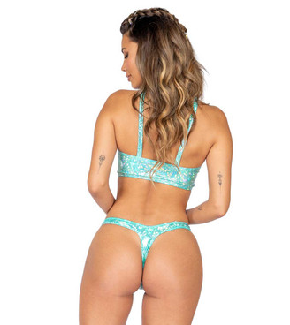 Roma R-3857, IRIDESCENT CROP TOP back view
