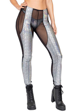 R-3856, SHEER AND SNAKESKIN PANTS by Roma Costume