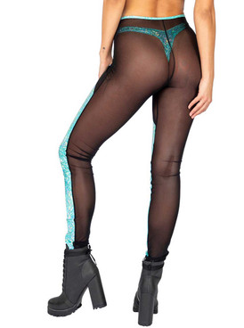 Roma R-3859, IRIDESCENT AND SHEER PANTS back view