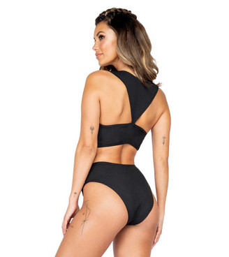 Roma R-3882, SNAKE PANEL CROP TOP Back view