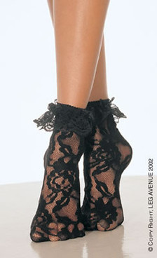 3030, Lace Anklet with Ruffle
