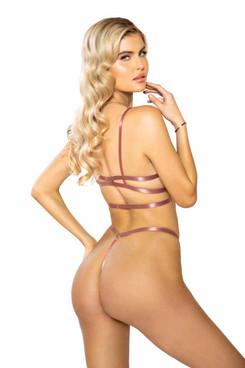 Roma | R-LI389, Caged Underwire Bra Set Back View
