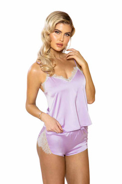 R-LI397, Satin Lounge Set by Roma Costume