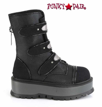 Demonia | Slacker-101,  Mid-Calf Boots with Stud Details