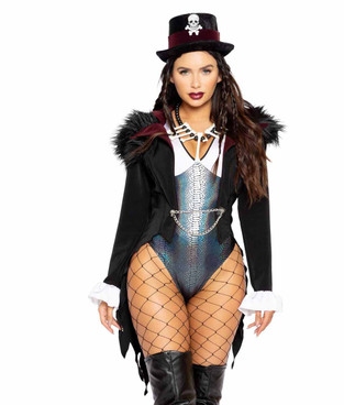 R-4960, VOODOO QUEEN Romper Costume by Roma
