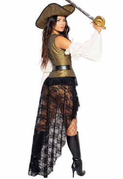 Roma R-4980, Pirate Queen Costume Back View