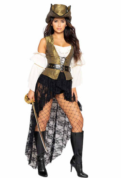 R-4980, Sexy Pirate Queen Costume By Roma