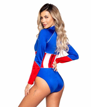 Roma R-4990, American Heroine Costume Back View