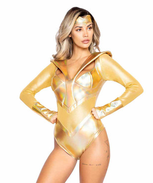 R-4991, Cosplay Golden Heroine Adult Costume by Roma