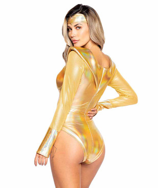 Roma R-4991, Golden Heroine Costume Back View