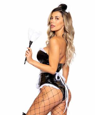 Roma R-5004, Kinky Maid Adult Costume Back View