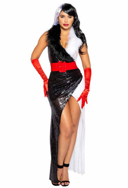 R-4993, Women's Fur Lovin' Dog Diva Costume By Roma