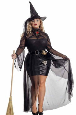 S2097X, Plus Size Gothic Witch Costume by Starline