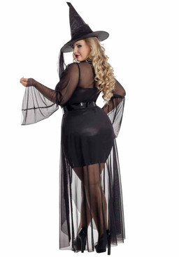 Starline S2097X, Plus Size Gothic Witch Costume back view