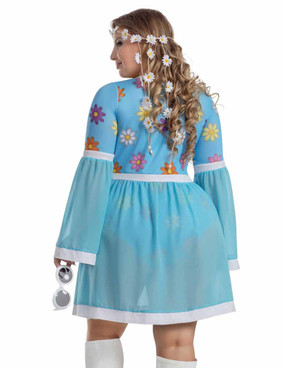 Starline S2056X, Plus Size Flower Power Costume back view
