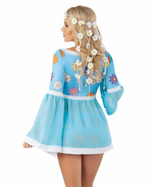 Starline S2056, Flower Power Hippie Costume back view