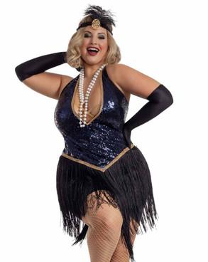 S2063X, Plus Size ShowGirl Jazzy Jezebel Costume by Starline