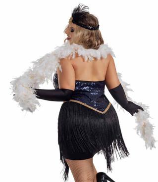 Starline S2063X, Plus Size Show Girl Jazzy Jezebel Costume back view
