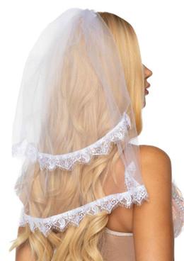LA2762, Bridal Veil by Leg Avenue