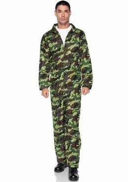 Men's Camoflauge Jumpsuit by Leg Avenue | LA86939