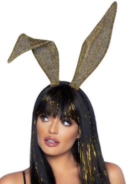 LA2770, Gold Glitter Bunny Ear Headband by Leg Avenue
