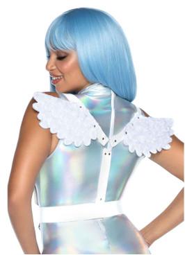 LA2764, White Angel Wing Body Harness by Leg Avenue